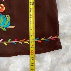 Urban Mango Dresses - Urban Mango Embroidered Scoop Neck Boho Dress